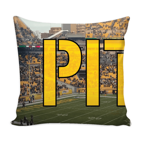 Pittsburgh Panoramic Stadium Pillow Cover Set - societyofprints - Society of Prints - Pillows