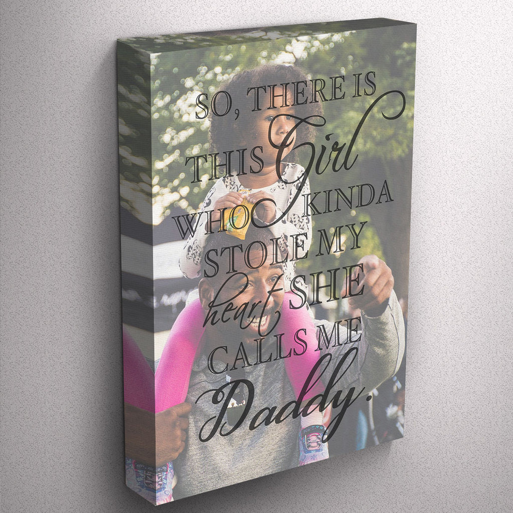 Custom Father's Day Photo Quote Canvas