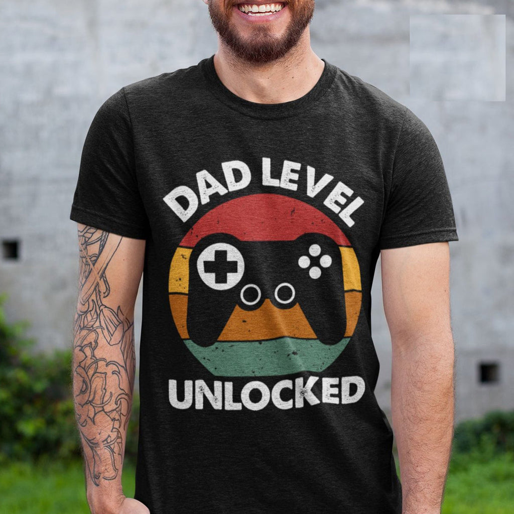 Funny New Dad Shirt- Dad Level Unlocked Tee Shirt!