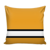 Image of Pittsburgh Hockey Stencil Throw Pillow Covers - societyofprints - Society of Prints - Pillows