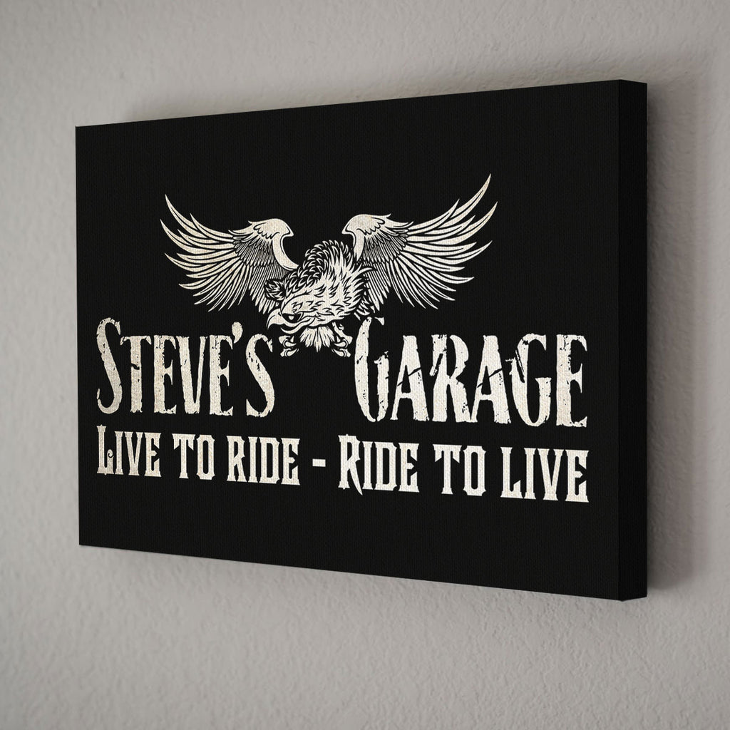 Personalized Garage Sign Canvas