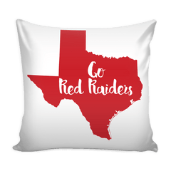 Texas Tech Stencil Throw Pillow Covers