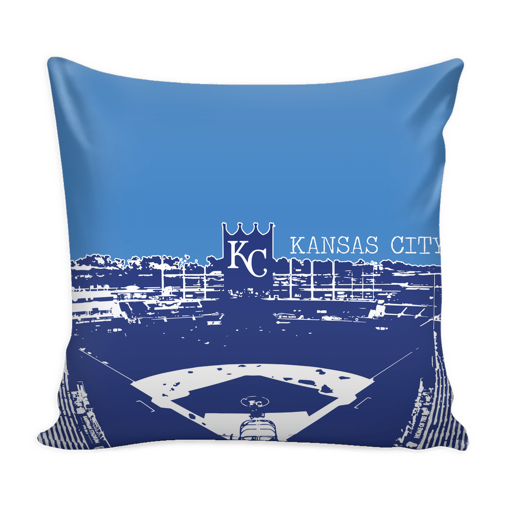 Kansas City Stencil Throw Pillows - societyofprints - Society of Prints - Pillows