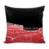 Image of Texas Tech Stencil Throw Pillow Covers - societyofprints - Society of Prints - Pillows