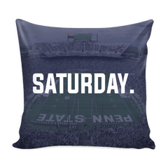 State College Saturday Football Pillow Cover - societyofprints - Society of Prints - Pillows