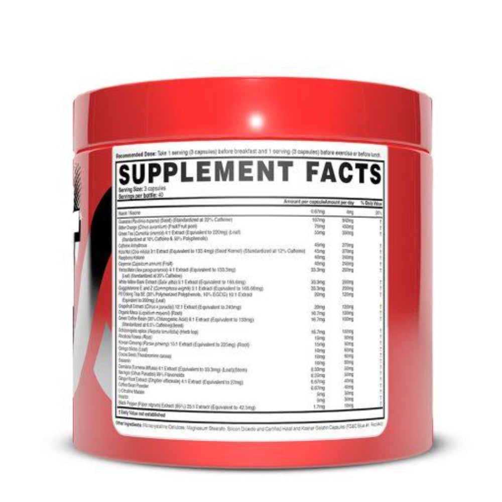 Heat Accelerated Magnum Nutraceuticals Nutrition Label