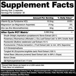 After Cycle PCT Alchemy Labs Nutrition Label