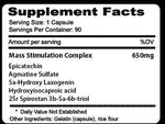 Alpha 1-T ATS Labs Nutrition Label