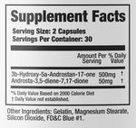 AndroMass Phase One Nutrition Nutrition Label