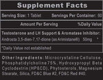 Arimistane Hi-Tech Pharmaceuticals Nutrition Label