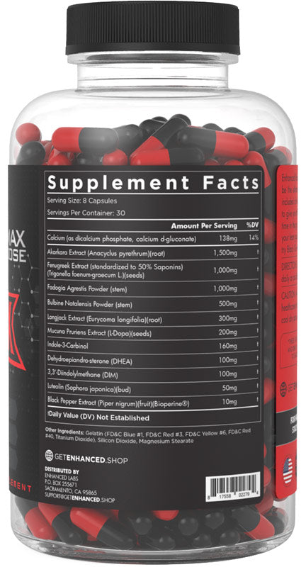 Black Ox Enhanced Athlete Nutrition Label
