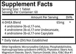Brutal 4ce Blackstone Labs Nutrition Label
