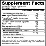 Extreme Nitric Stack Nutrabio Labs Nutrition Label