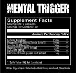 Mental Trigger Redcon1 Nutrition Label