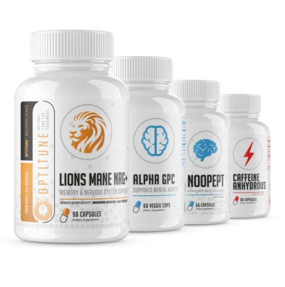 Nootropic Stack (Alpha GPC + Lion's Mane + Noopept + Caffeine Anhydrous)
