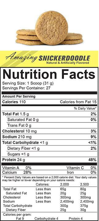 SELECT Protein 27 Servings PEScience Nutrition Label