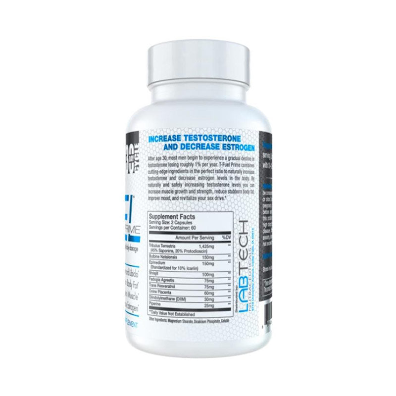 T-Fuel Prime Labtech Nutraceuticals Nutrition Label