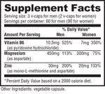 ZMA Nutrabio Labs Nutrition Label