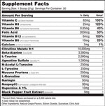 biopump'd Global formulas Nutrition Label