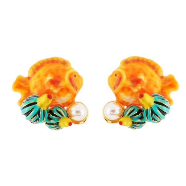 Les Nereides Exoplanet Little Fish Earrings - La Riviere Confiserie