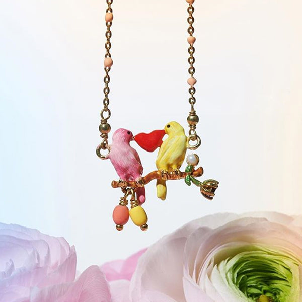 Les Nereides Couple of Canaries Necklace - La Riviere Confiserie