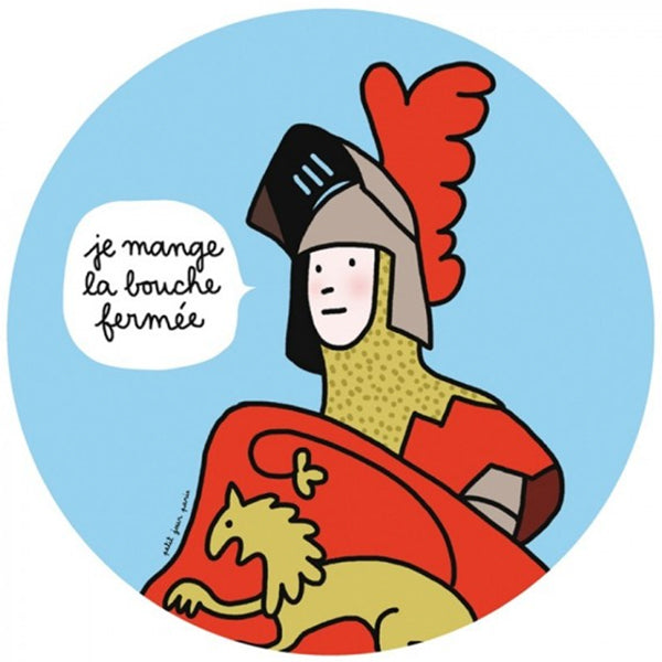 Prince Table Manners Plate - I eat with my mouth closed - La Riviere Confiserie