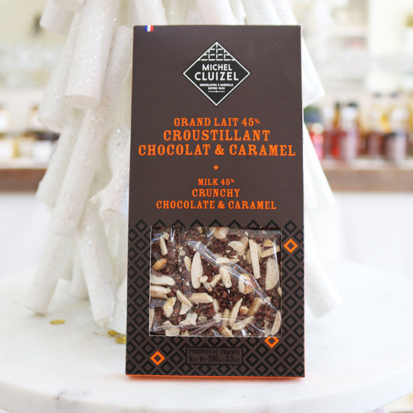 Michel Cluizel Chocolate and Caramel Bars with Almonds and Hazelnuts - La Riviere Confiserie