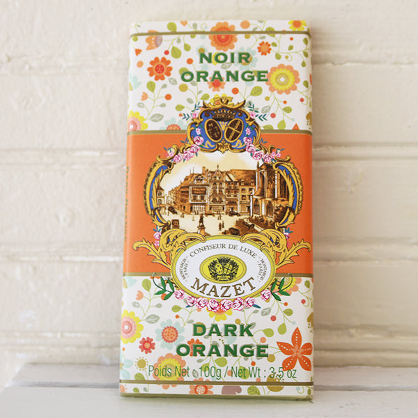 Mazet Dark Chocolate Orange Bar (Noir Orange) - La Riviere Confiserie