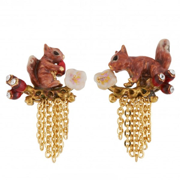 Les Nereides Squirrel Earrings - La Riviere Confiserie