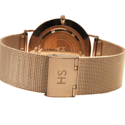 Harry Spring Rose Gold Watch and Rose Gold Milanese Strap
