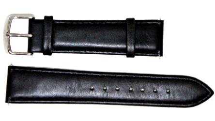 Peyton Spring Black Leather Watch Strap