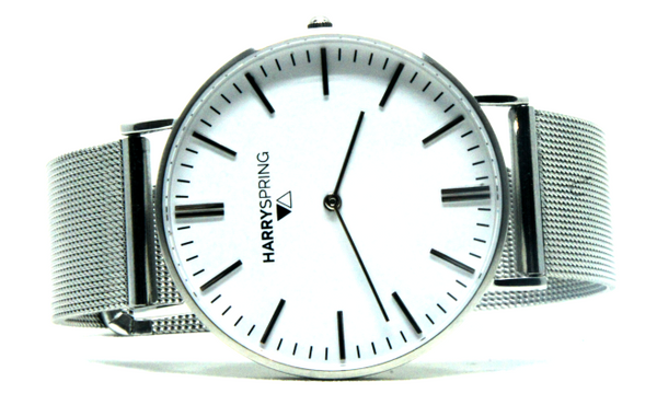 Taylor Spring Silver Milanese Watch