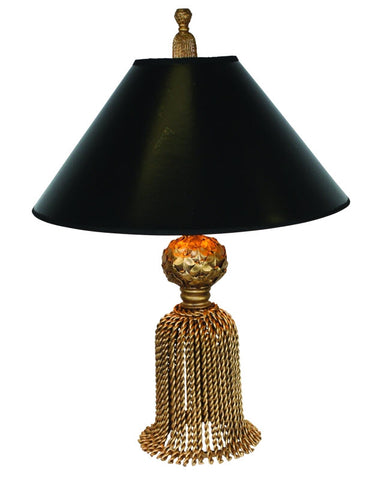 Desk Top Tassel Lamp - Gold Finish - Carleton Varney