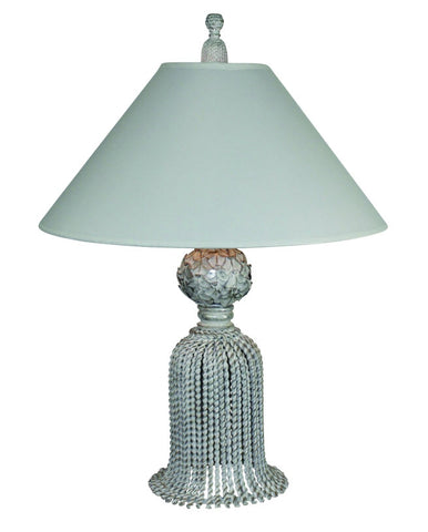Desk Top Tassel Lamp - Silver Finish - Carleton Varney