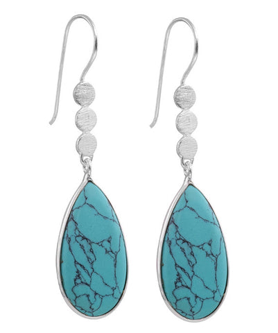 Boho Teardrop Earrings - Silver - Carleton Varney