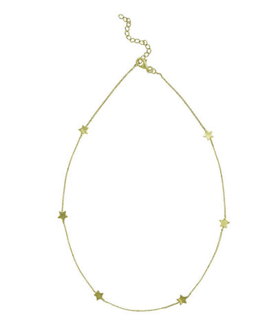Shooting Star Necklace - Vermeil Gold - Carleton Varney