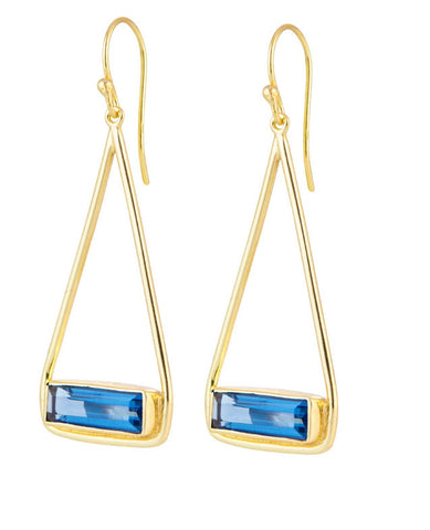 Manhattan Iolite Swing Earrings - Vermeil Gold - Carleton Varney