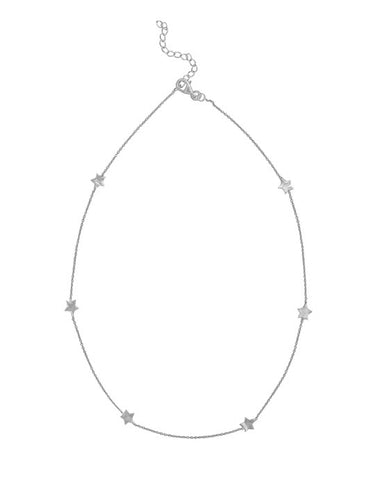 Shooting Star Necklace - Silver - Carleton Varney