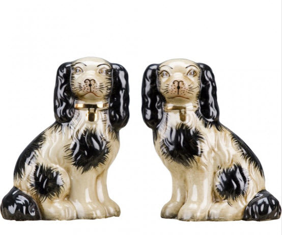 Pair of Staffordshire Dogs - Black - Carleton Varney