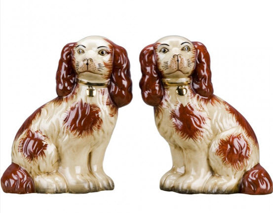 Pair of Staffordshire Dogs - Rust - Carleton Varney