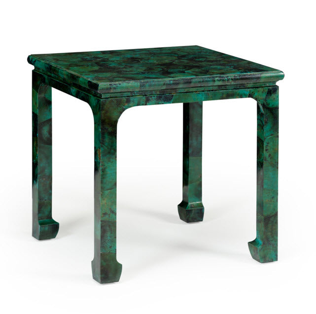 Yumi Hand Painted Malachite Side Table