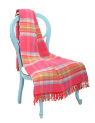 Large Wool Throw Blanket / Pink Multi - Carleton Varney