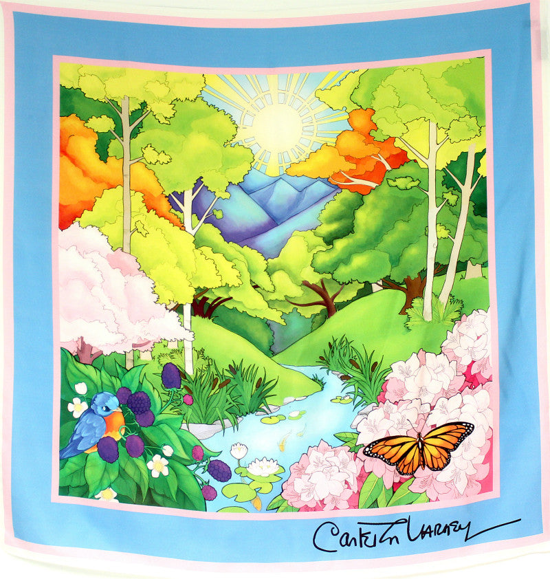 Greenbrier Valley Silk Scarf - Carleton Varney