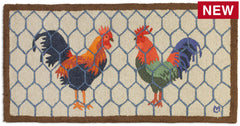 Roosters At Home Wool Rug or Runner - Carleton Varney