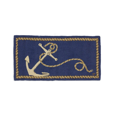ANCHOR 2'X4' HOOKED WOOL RUG