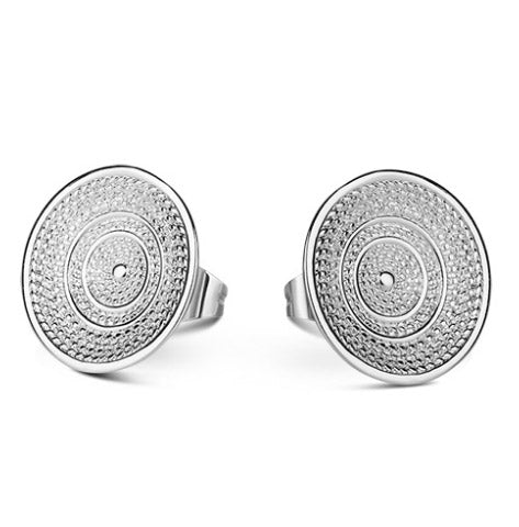 Celtic Silverplate Stud Earrings - Carleton Varney