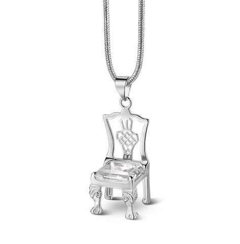Chair Pendant Clear Stone