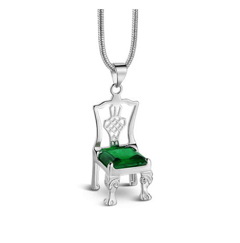 Chair Pendant Emerald Green Stone