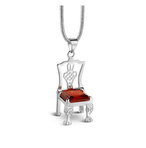 Chair Pendant Ruby Red Stone