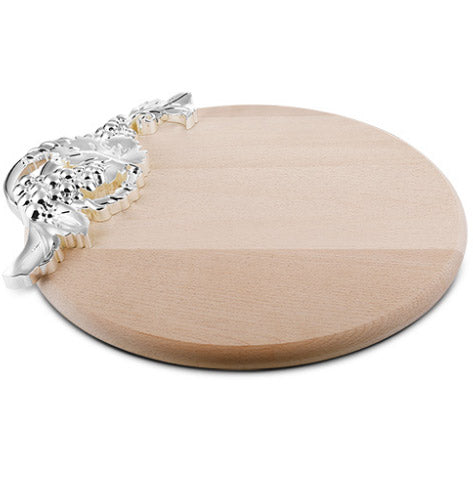 Large Cheese Board With Silver Vine Detail - Carleton Varney